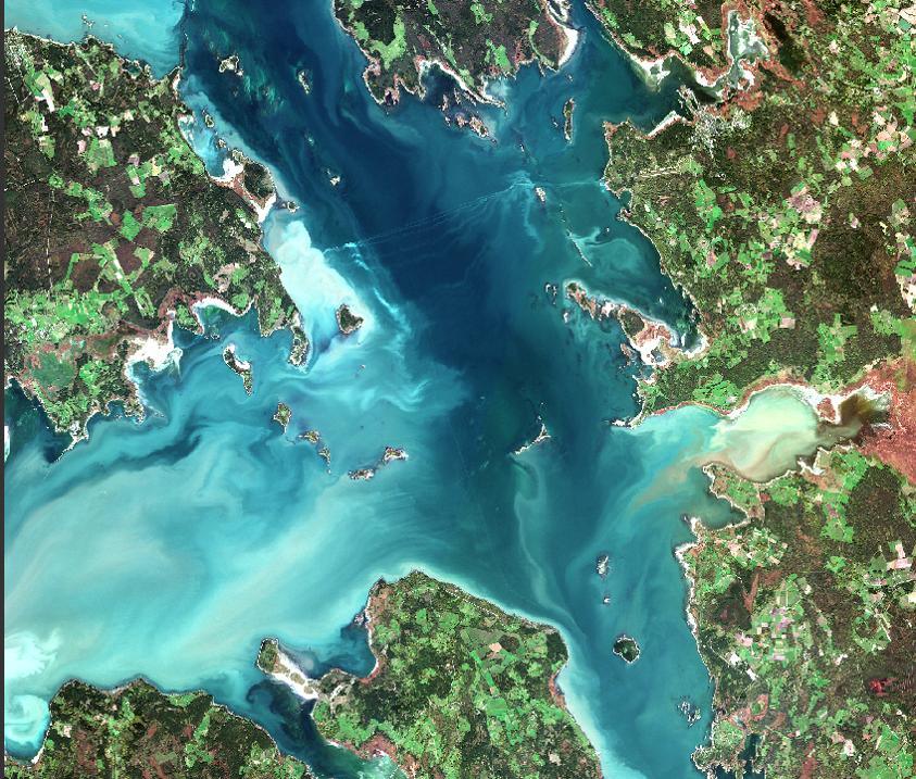 Hiiumaa praami graafik, Sentinel 3, Tiit Kutser (TÜ EMI)